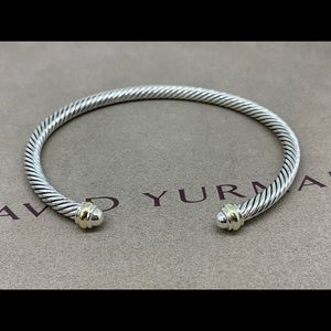 David Yurman 4mm Cable Classic with 18k Gold